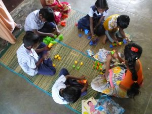 The Special Needs children at the Sunshine Special School learn through play together